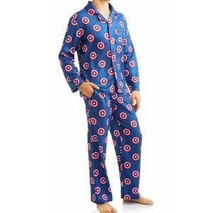 new Marvel Captain America Men's Superhero Pajamas